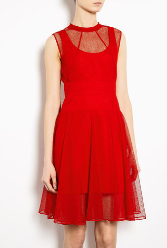 Carven Mesh Lace Prom Dress
