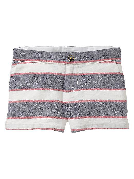 These linen shorts ($25) are so cute that we wonder if they come in our size!