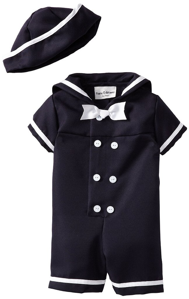 You'll have one handsome sailor on your hands when you dress him in this nautical boy suit ($16).