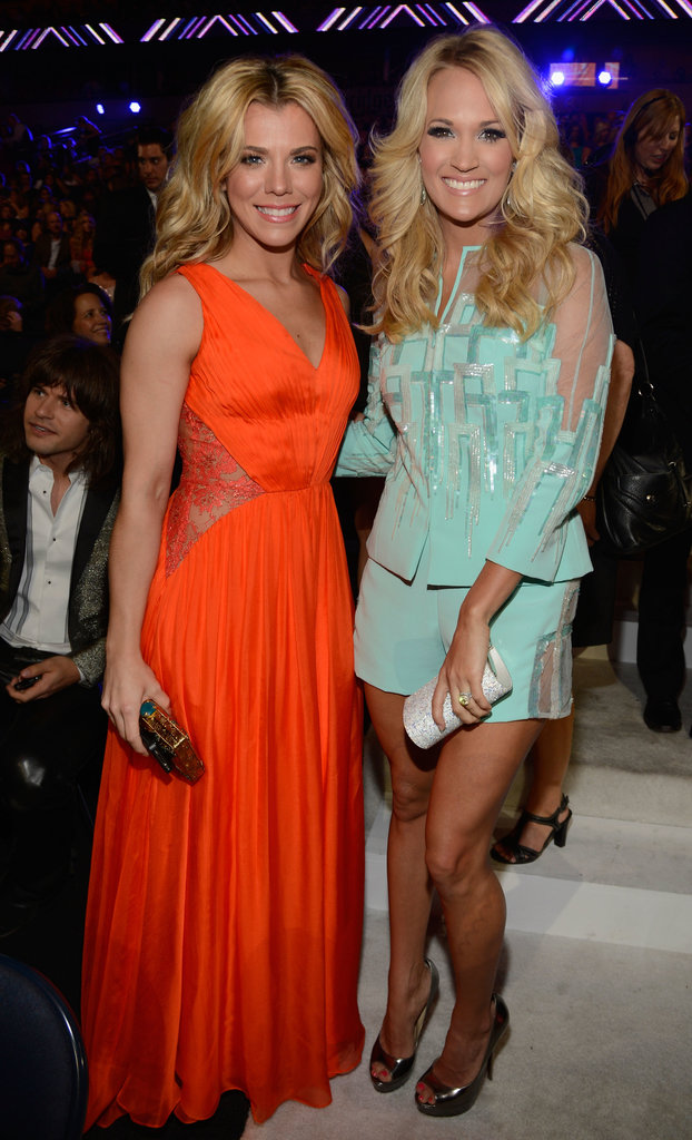 Kimberly Perry and Carrie Underwood met up in the audience.