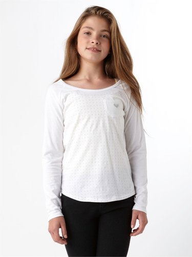 Girls 7-14 Be Good Long Sleeve Raglan Top