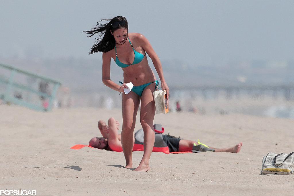 Desiree Hartsock went to an LA beach.