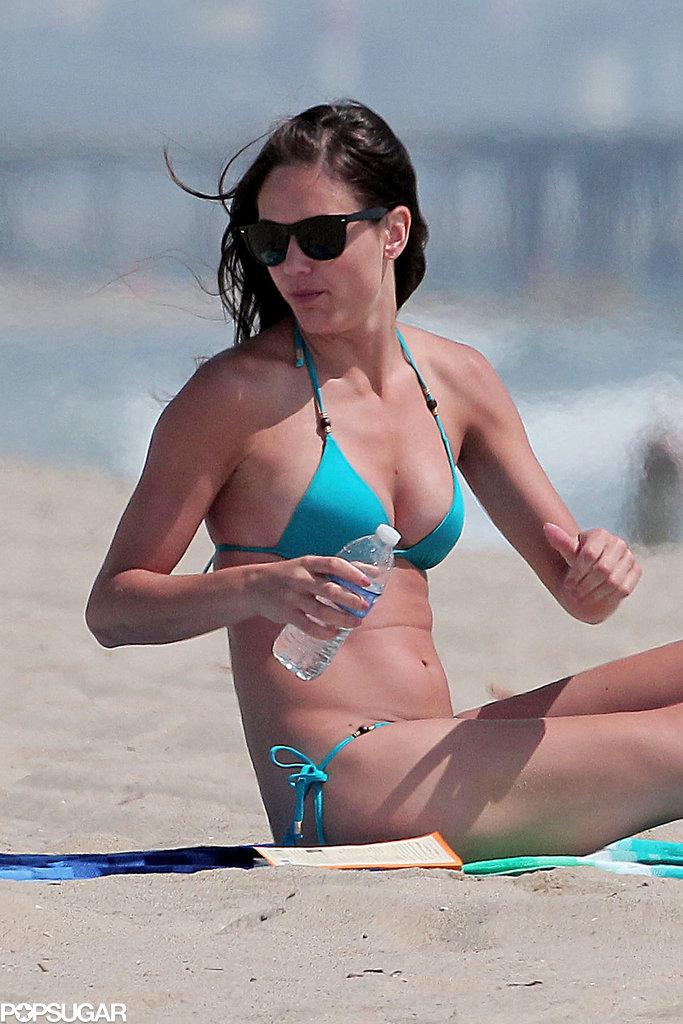Desiree Hartsock soaked up some sun on the beach.