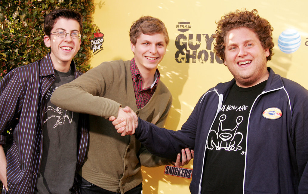 Christopher Mintz-Plasse, Michael Cera, and Jonah Hill joked around at the Guys Choice Awards in 2007.