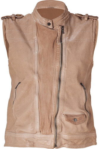Neil Barrett Powder Washed Leather Vest