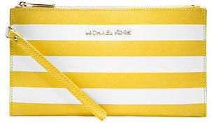 MICHAEL Michael Kors  Large Jet Set Striped Zip Pouch