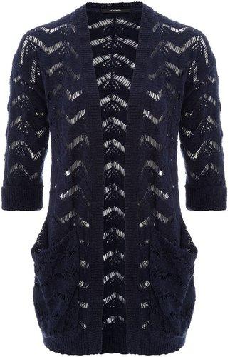 Longline Crochet Cardigan