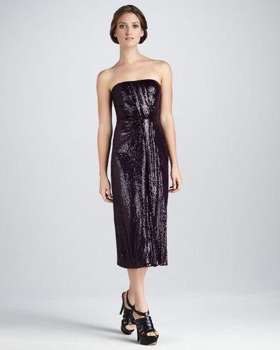 Diane von Furstenberg Piaza Cuvet Sequined Strapless Midi Dress