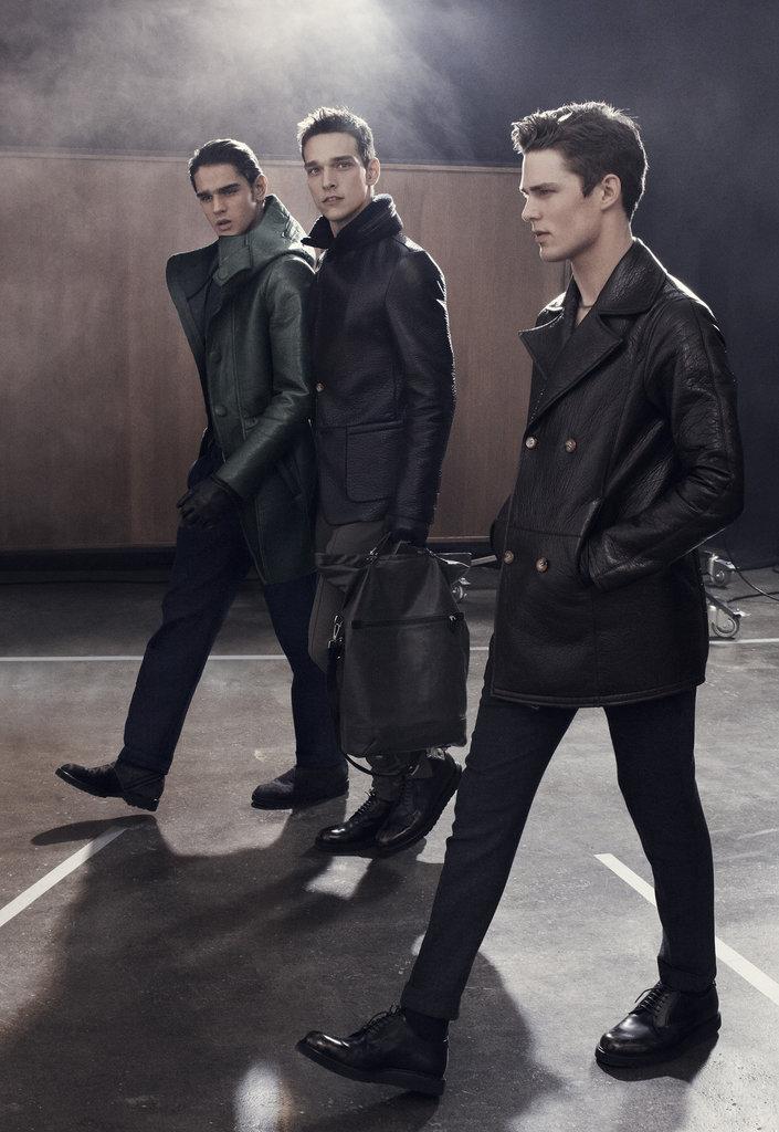 From left: Marlon Teixeira, Alexandre Cunha, and Nils Butler photographed by Craig McDean. Photo courtesy of Emporio Armani