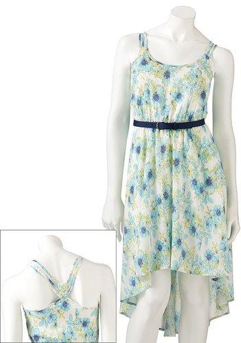 Lc lauren conrad floral challis dress