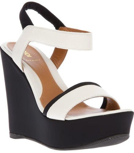 Fendi wedge sandal