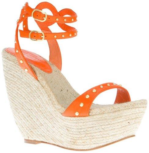Alexander McQueen studded wedge sandal