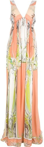 Roberto Cavalli pleated sleeveless maxi dress
