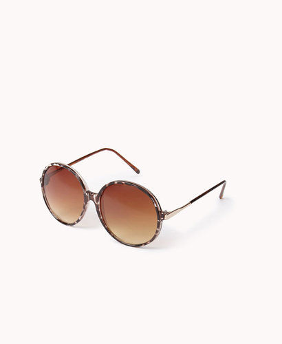 FOREVER 21 F7828 Oversized Round Sunglasses