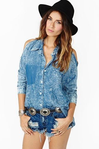 Cool Acid Denim Top