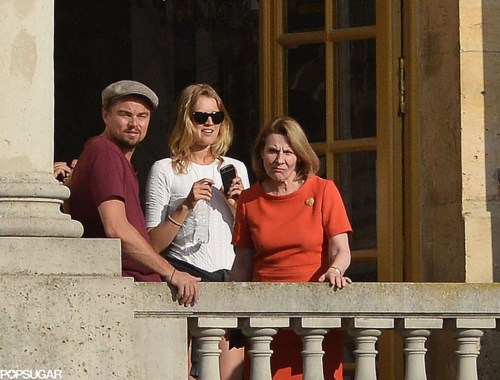 Leonardo DiCaprio looked out a balcony with Toni Garrn.