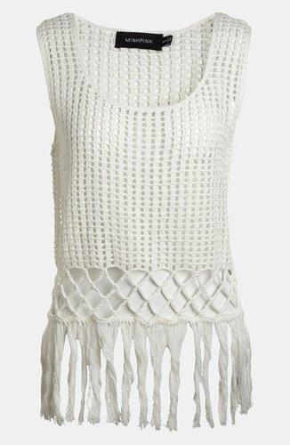 MINKPINK 'Angel Tears' Crochet Tank