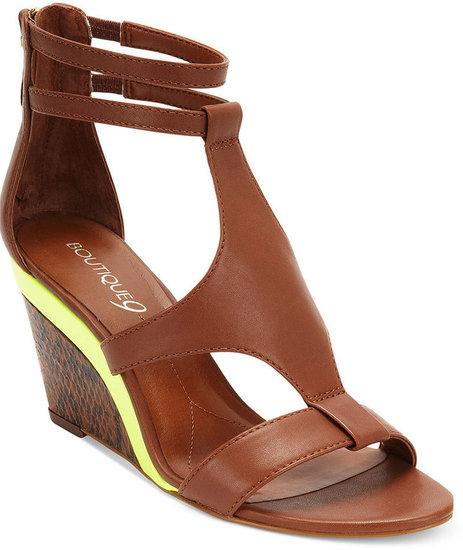 Boutique 9 Shoes, Petruchio Mid Wedge Sandals