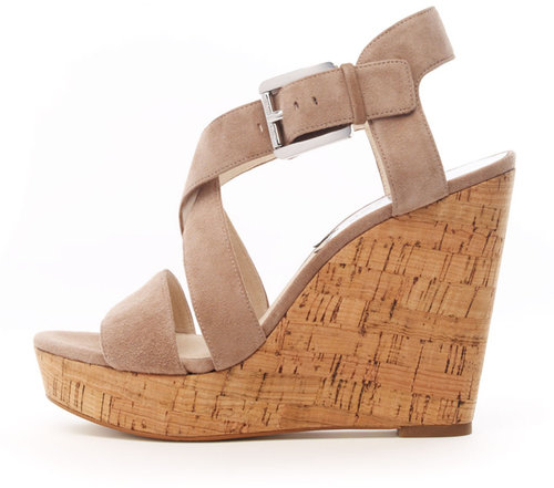 Michael Kors Giovanna Suede Espadrille Wedge Sandal