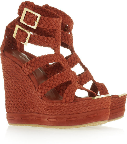 Jimmy Choo Pine woven suede wedge sandals