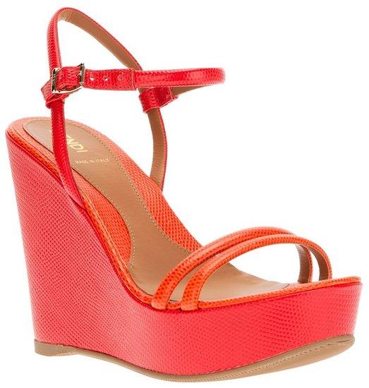 Fendi wedged sandal