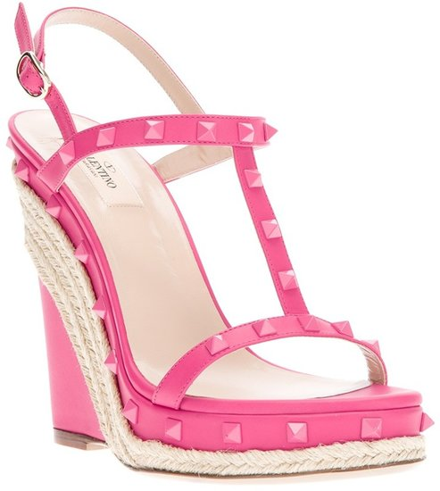 Valentino Garavani studded wedge sandal