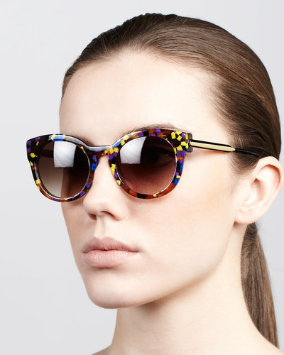 Thierry Lasry Magnety Round Confetti Sunglasses, Multicolor