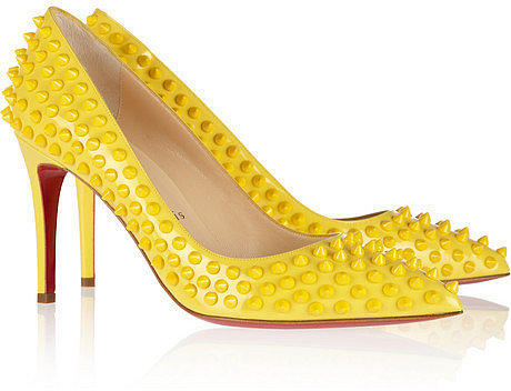 Christian Louboutin Pigalle Spikes 85 patent-leather pumps