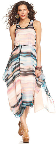 Sanctuary Dress, Sleeveless Scoop-Neck Striped Maxi