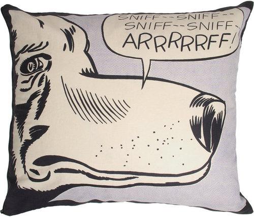 Lichtenstein Rectangle Pillow ARRRRRFF!, 1962