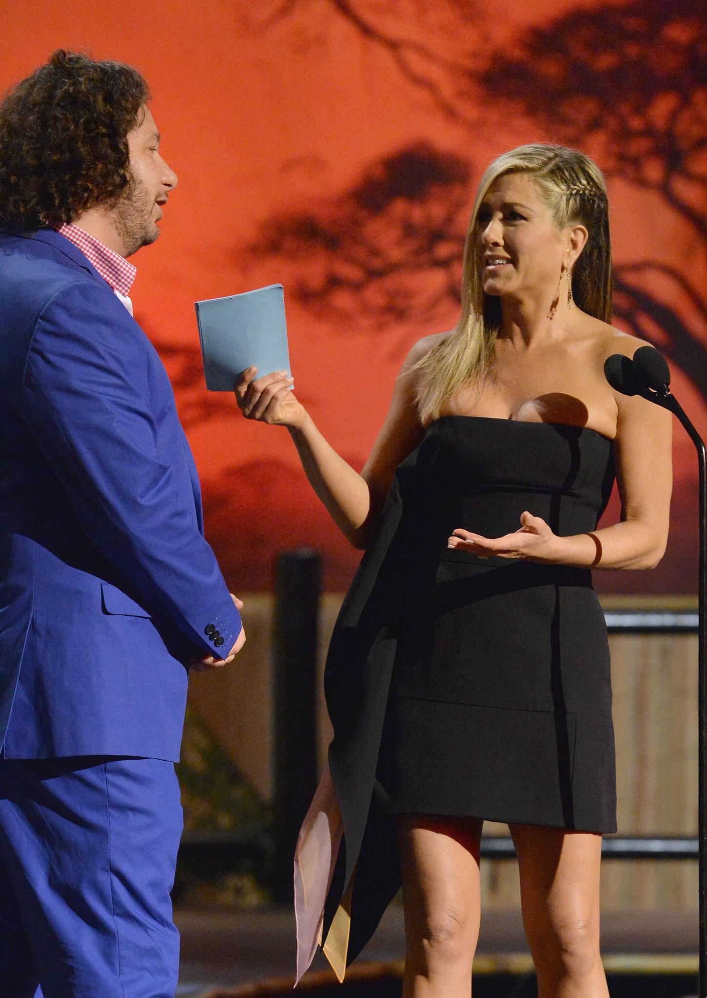 Jennifer Aniston Joins the Boys at the Guys Choice Awards