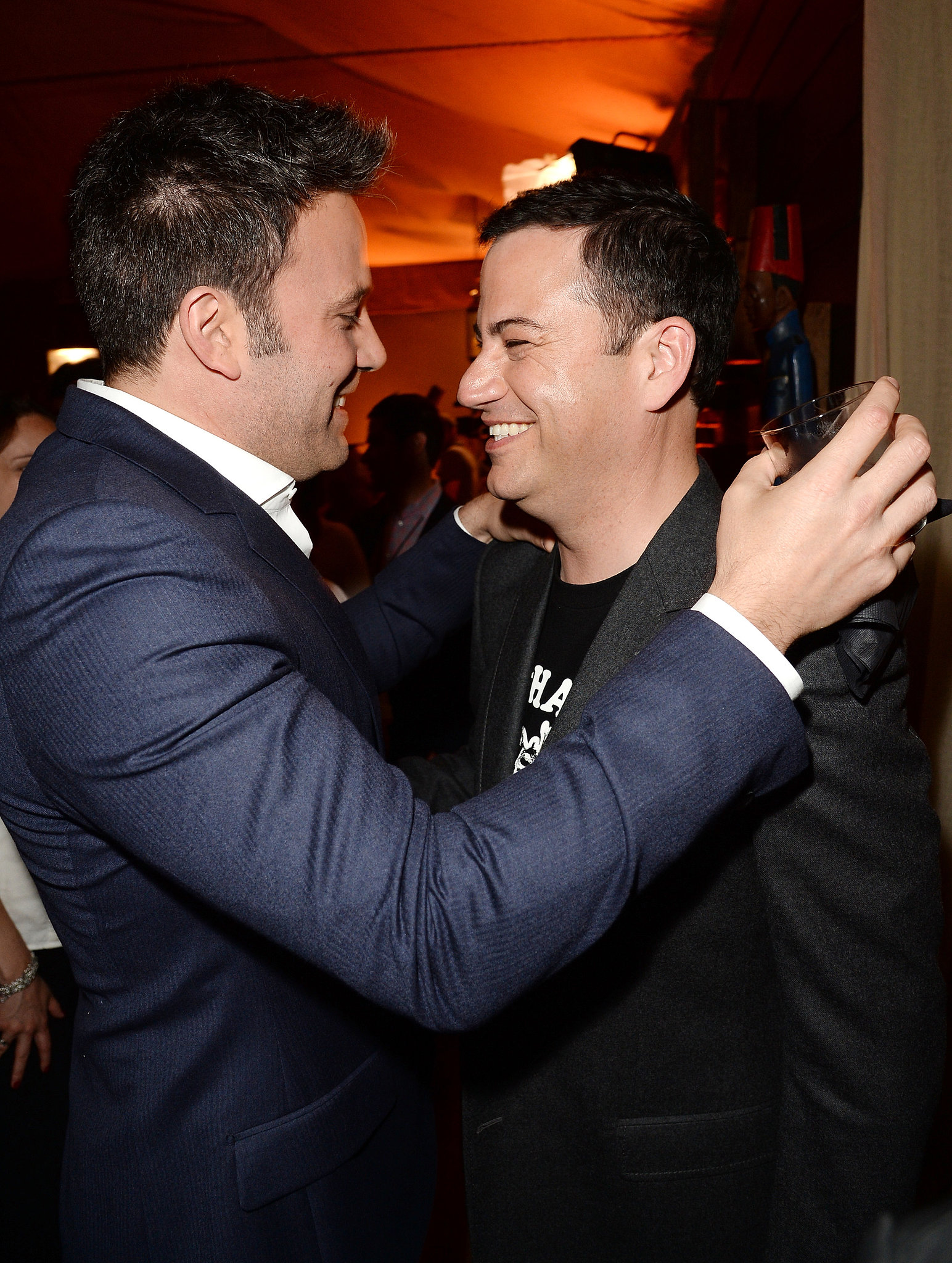 Ben Affleck and Jimmy Kimmel hugged it out backstage.