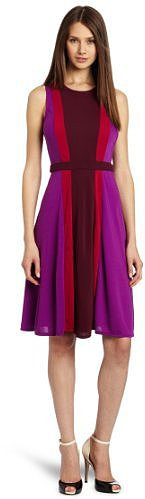 BCBGMAXAZRIA Women's Solie Color Blocked Dress