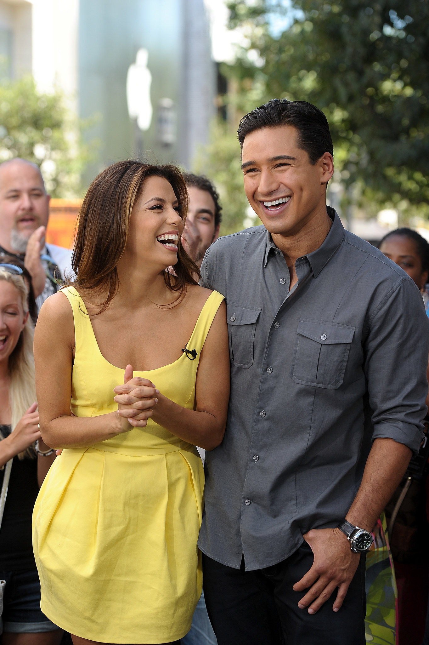 """Despite past rumors that they were a couple, Eva Longoria and Mario Lopez are actually more like family. Eva considers Mario a brother, while Mario shows support for his """"girl"""" Eva on Twitter."""