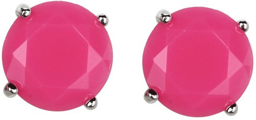 Jessica Simpson - Tropic Nights Stud Earrings (Orange/Light Rhodium) - Jewelry