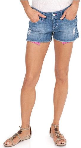 Levi's® Juniors Shorts, Camden Cut-Off Shorty Short, Light Wash