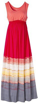Liz Lange® for Target® Maternity Sleeveless Maxi Dress - Bright Coral