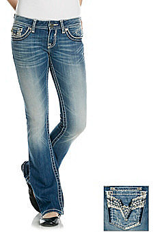 Vigoss© Bling Back Bootcut Jeans