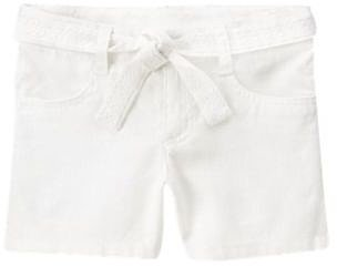 Belted Linen Blend Short