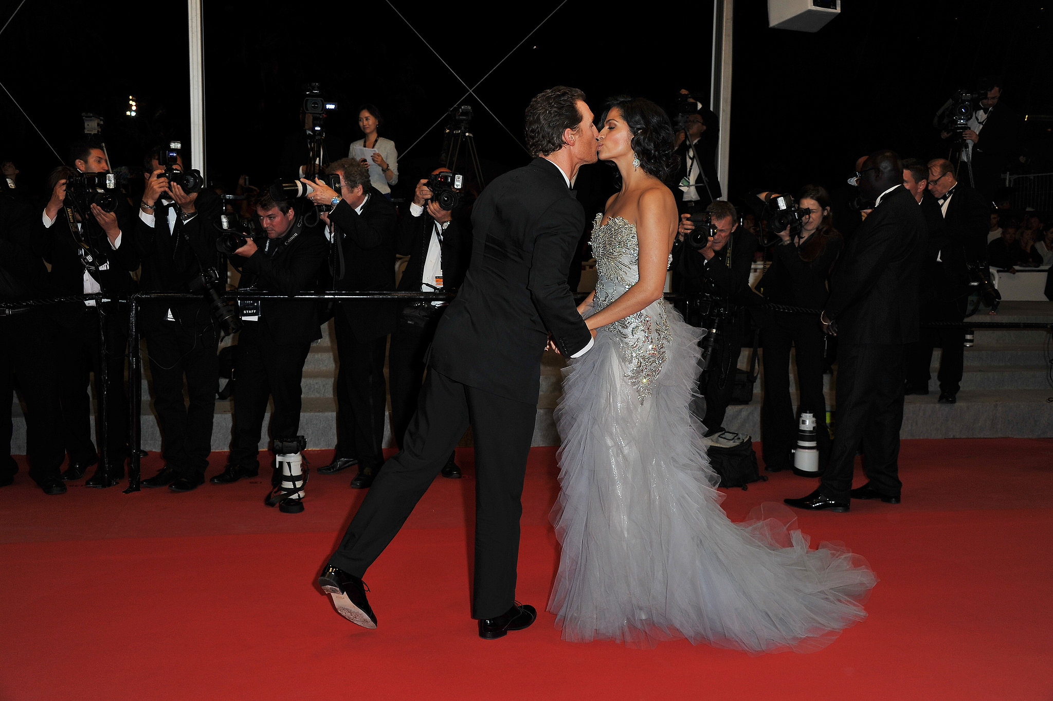 The couple stopped for a kiss at the Cannes Film Festival premiere of Mud in May 2012.