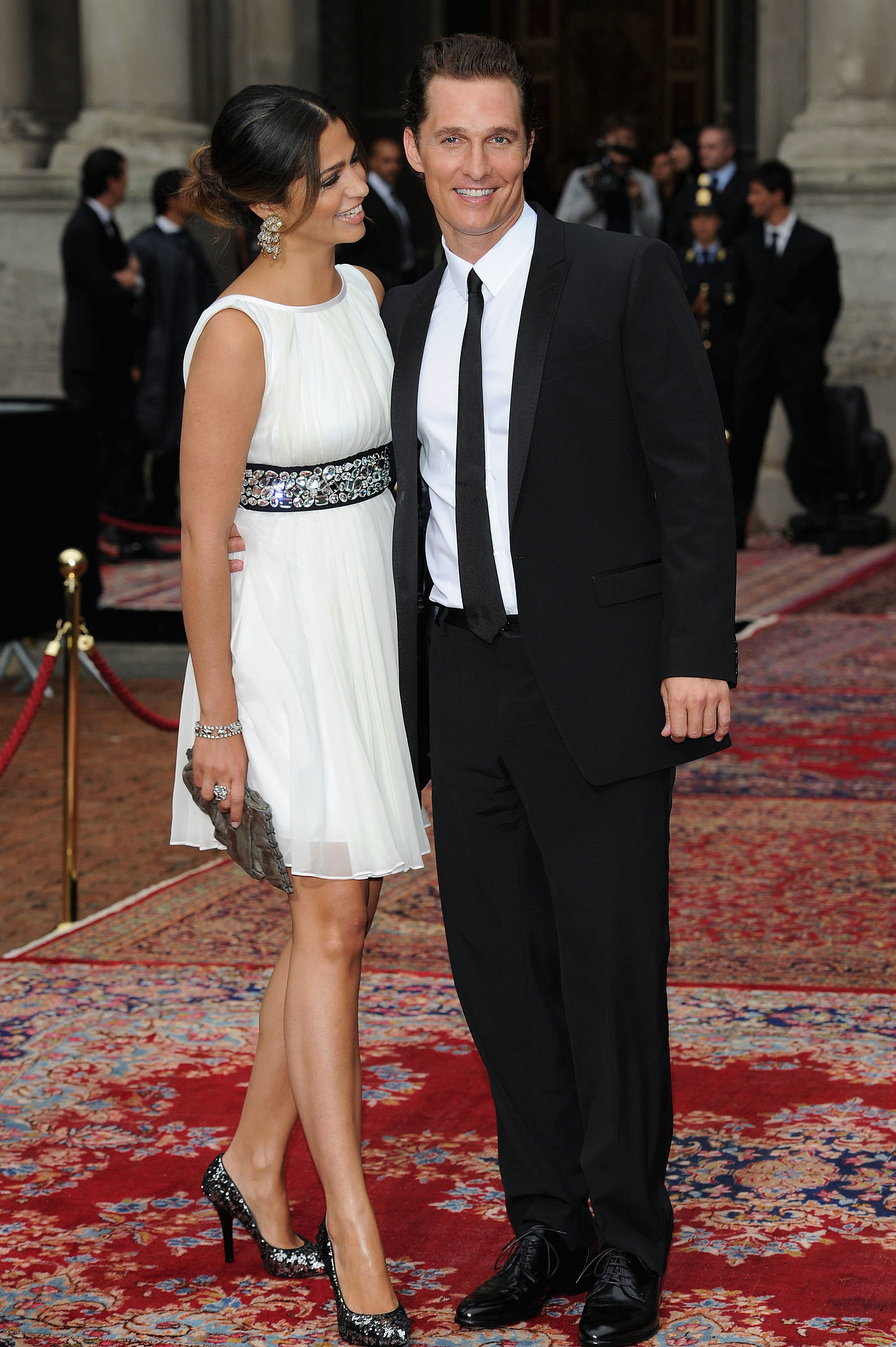 The duo got fashionable for a Dolce & Gabbana event during Milan Fashion Week in June 2010.