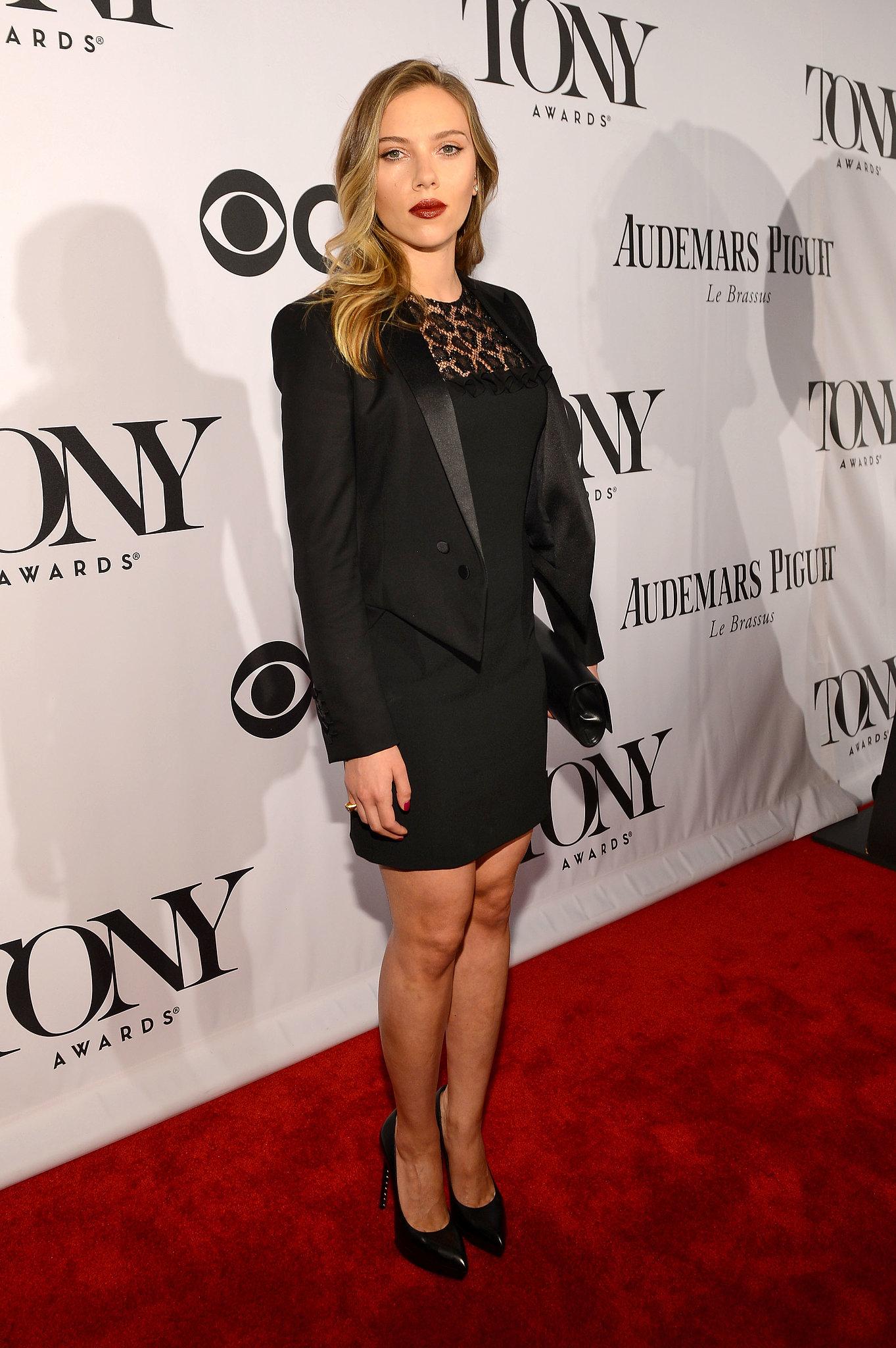Scarlett Johansson wore Saint Laurent to the 2013 Tony Awards in New York.