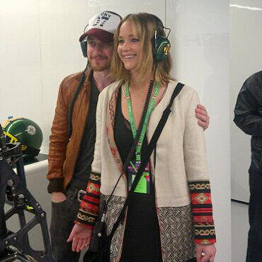 Jennifer Lawrence at the Canadian Grand Prix