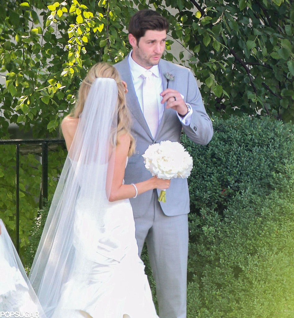 The couple lucked out with some gorgeous weather!