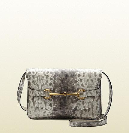 Bright Bit Animalier Karung Printed Leather Shoulder Bag