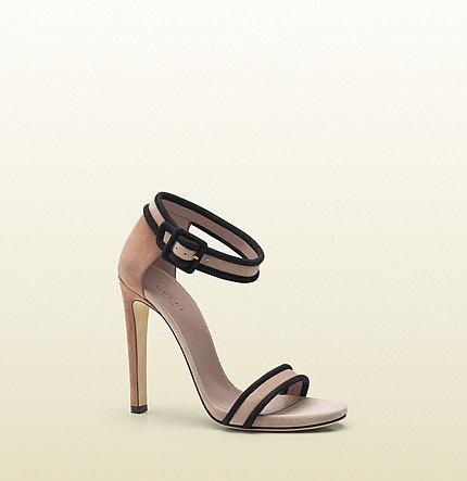 Dempsey Contrast Suede High-Heel Sandal