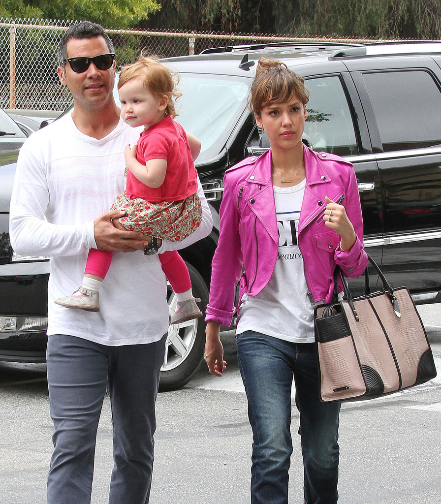 Jessica Alba went with her husband, Cash Warren, and daughter Haven to see daughter Honor's ballet recital in LA on Sunday.