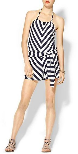 Michael Stars Exclusive Stripe Halter Romper