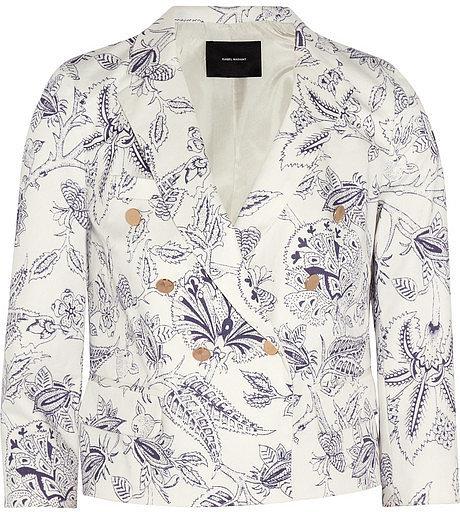 Isabel Marant Lisa printed stretch-cotton twill blazer