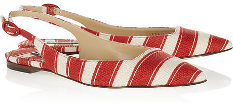 Dolce & Gabbana Striped canvas slingbacks